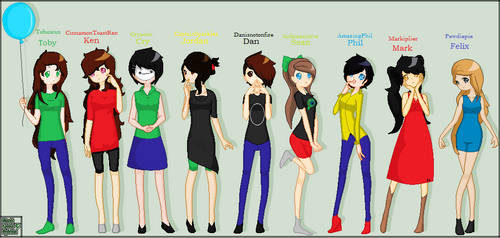 Female YouTubers part 1 by Artollo2-Corner