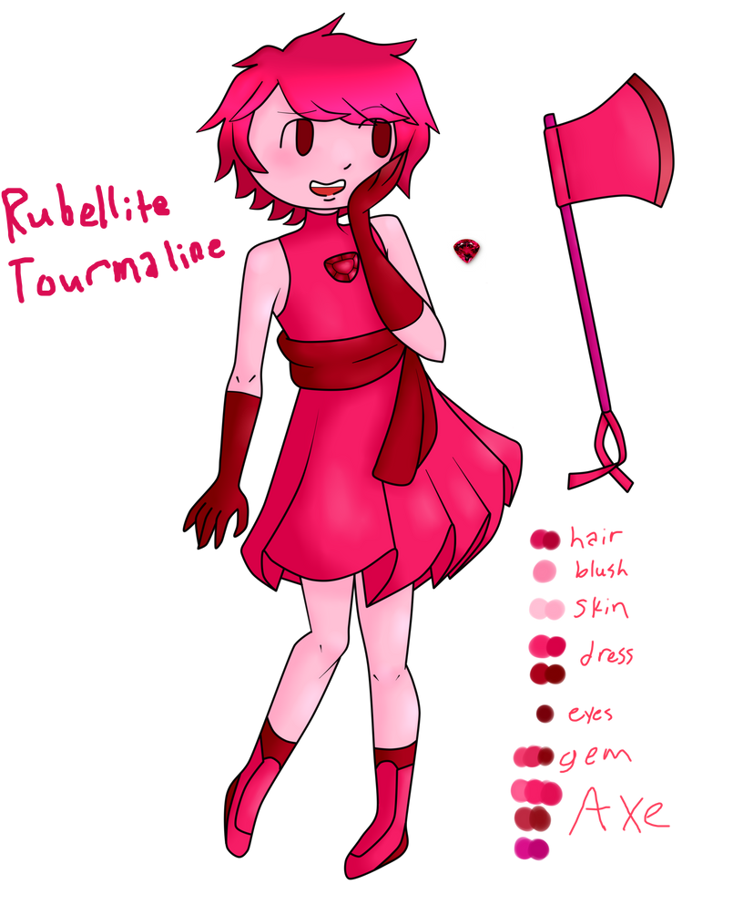 Rubellite Tourmaline (My gemsona) by Artollo2-Corner