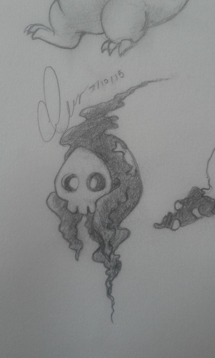 Duskull Sketch by pokemonviolet