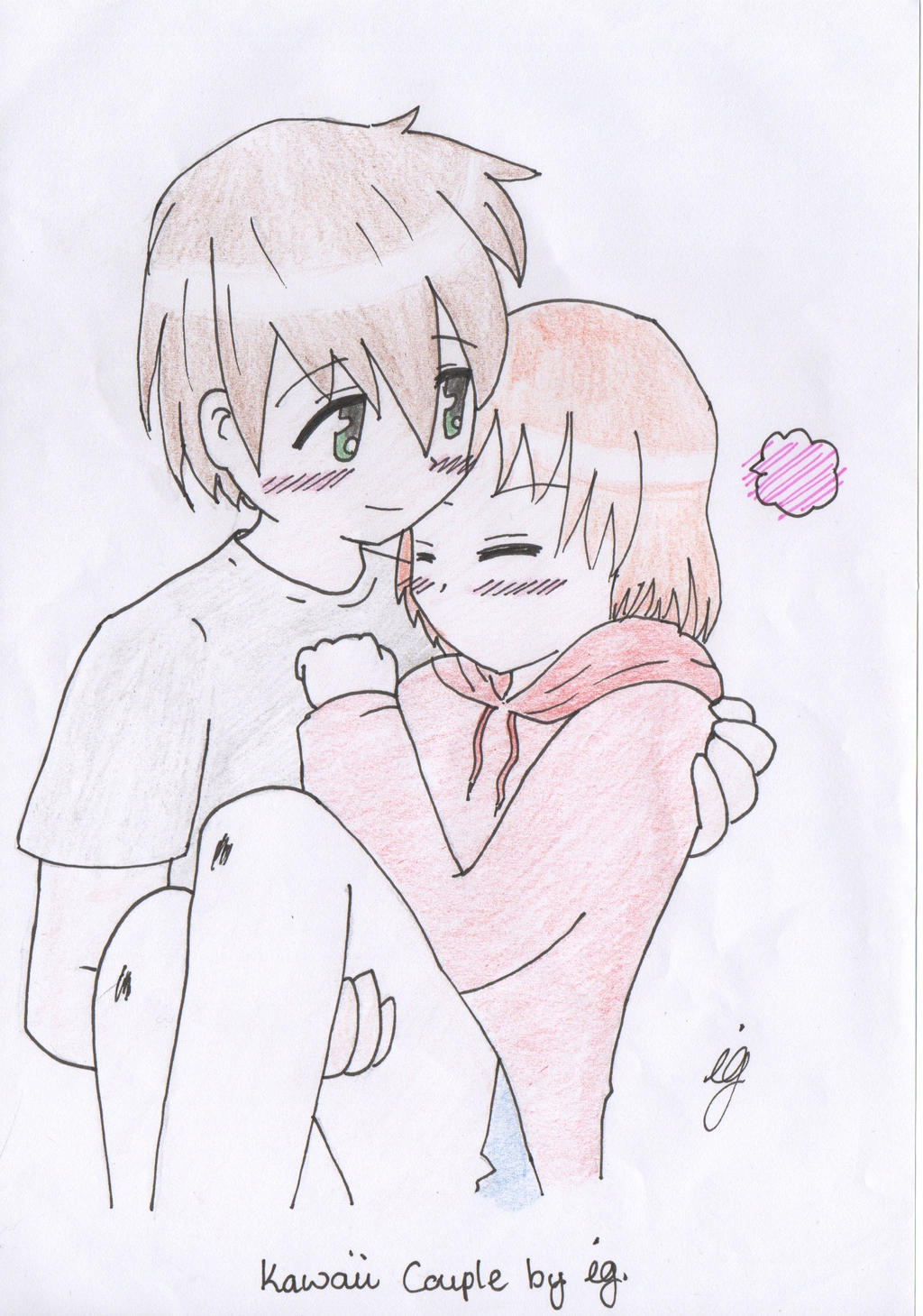 Cute Anime Couple By Umineko93 On DeviantArt