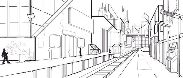 Cyber punk city by jakecastorena on DeviantArt