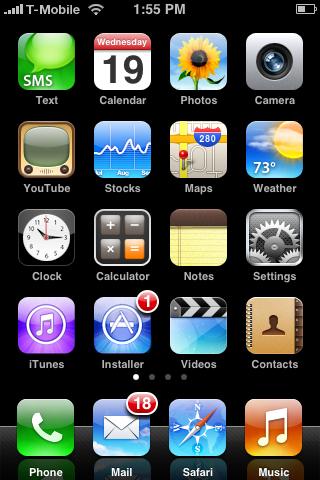 Custom iPhone Springboard by m0rphzilla