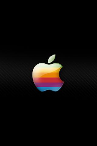 Retro Apple Logo Wallpaper