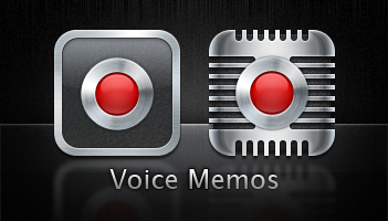 Voice Memo icons for iPhone 4 by m0rphzilla