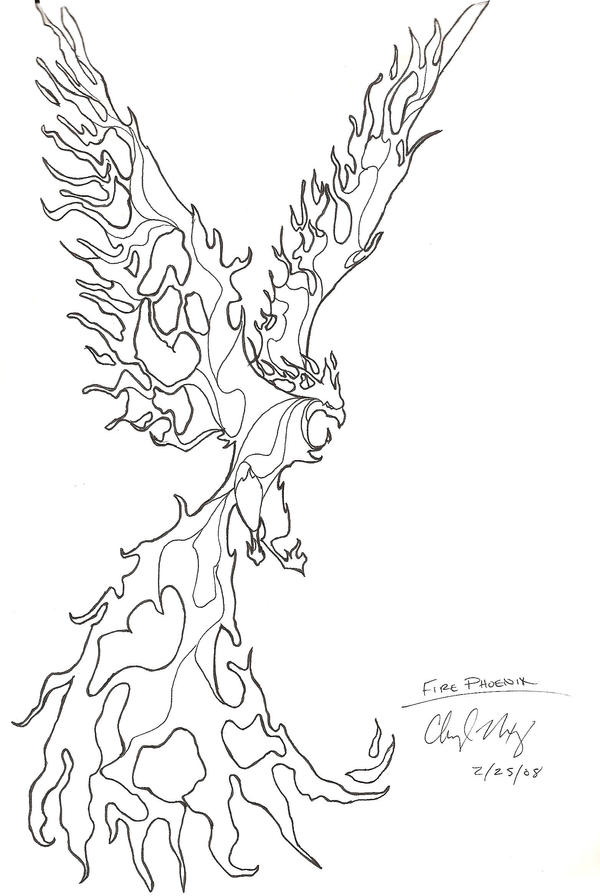 fire bird coloring pages - photo#8