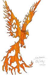 Phoenix of the Flames II by Herahkti