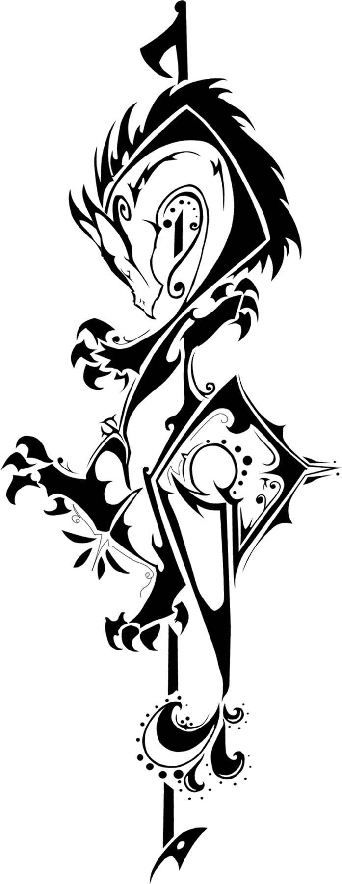 pin tribal bass clef tattoo 72152jpeg on pinterest. Black Bedroom Furniture Sets. Home Design Ideas