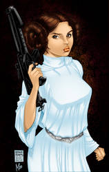 Princess Leia by Art Adams colored by bigMdesign