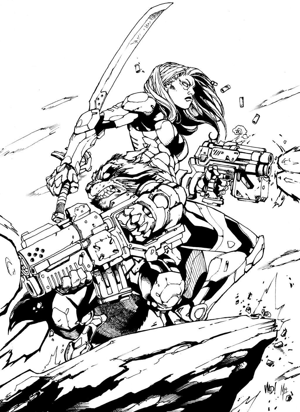 guardians of the galaxy coloring pages - guardians of the galaxy joe mad pencils bigm inks by