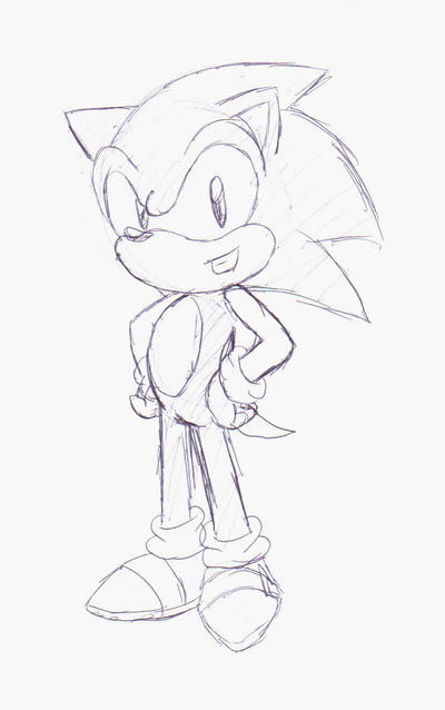 Sonic pen Doodle by SonicHearts