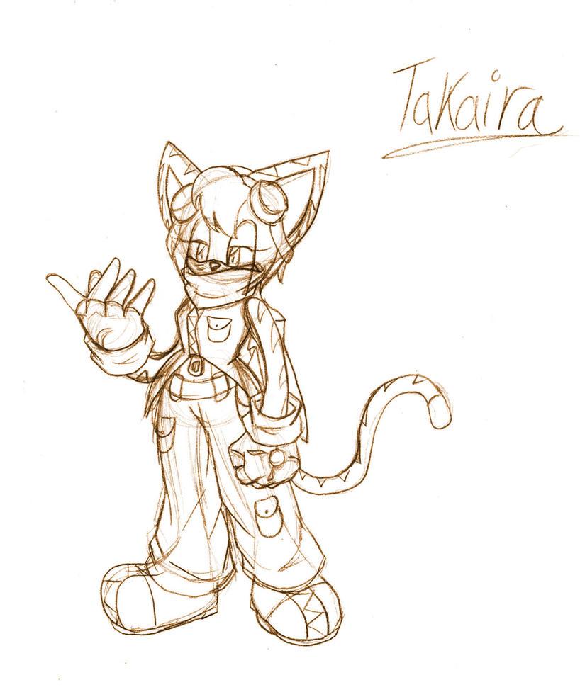 Takaira .:Full Sketch:. by SonicHearts