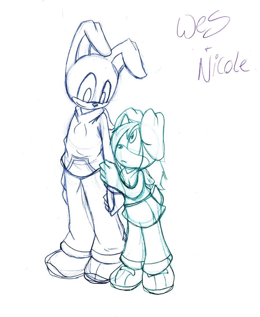 Wes+Nicole .:Full Sketch:. by SonicHearts