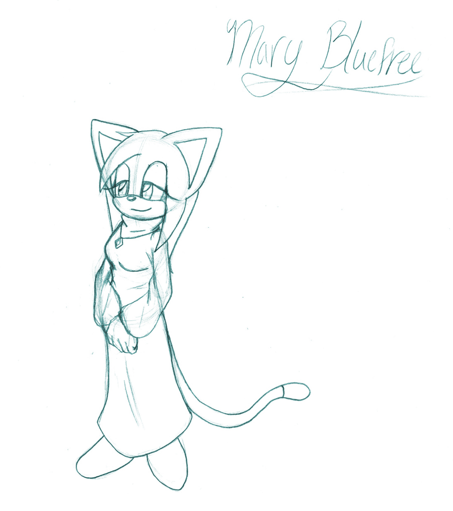 Mary Bluefree.:Full Sketch:. by SonicHearts