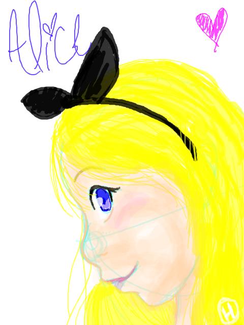 Tegaki - Alice by SonicHearts