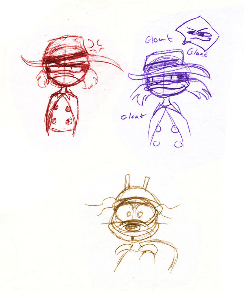 Darkwing Chibis of 3 by SonicHearts