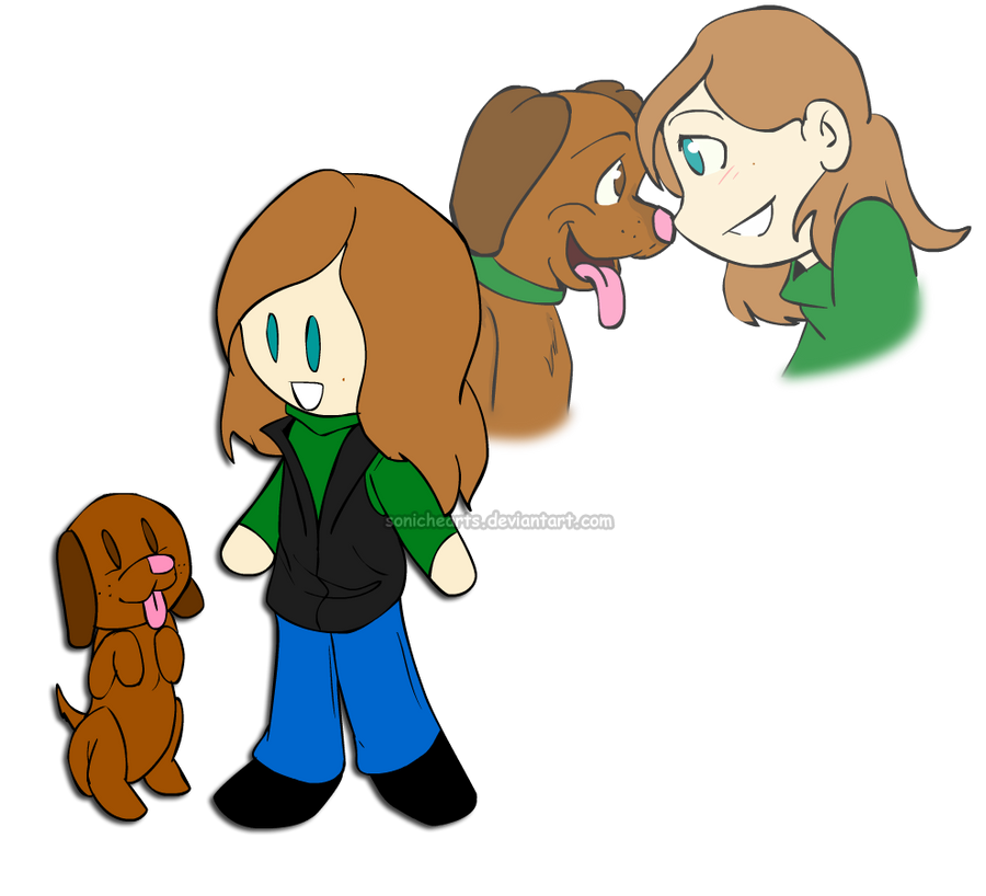 :Commission:A Girl and her Pup by SonicHearts
