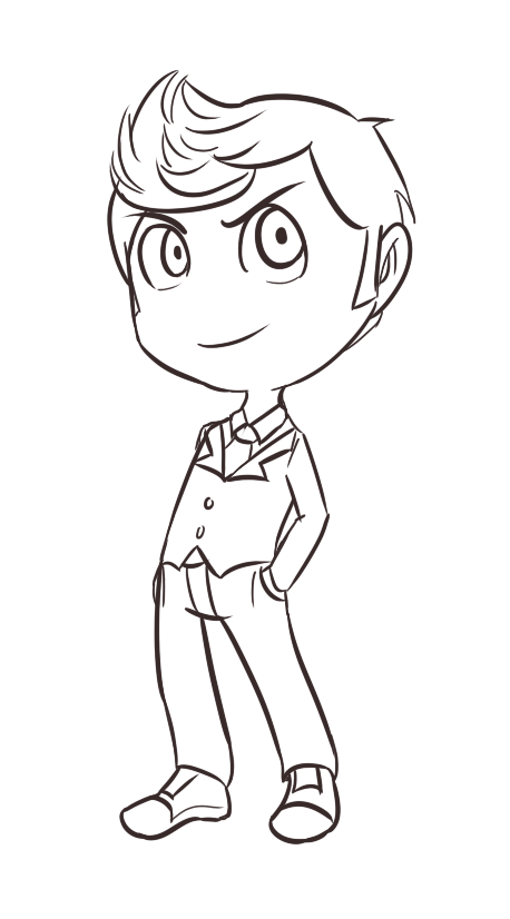WIP - 10th Doctor Chibi by SonicHearts