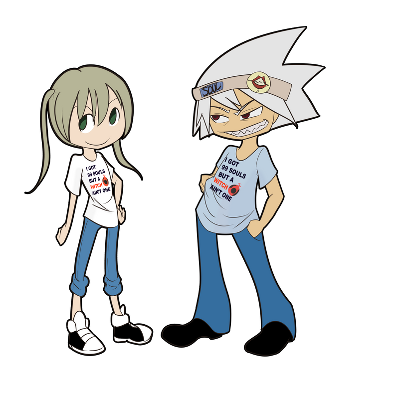 Commission: Soul and Maka by SonicHearts