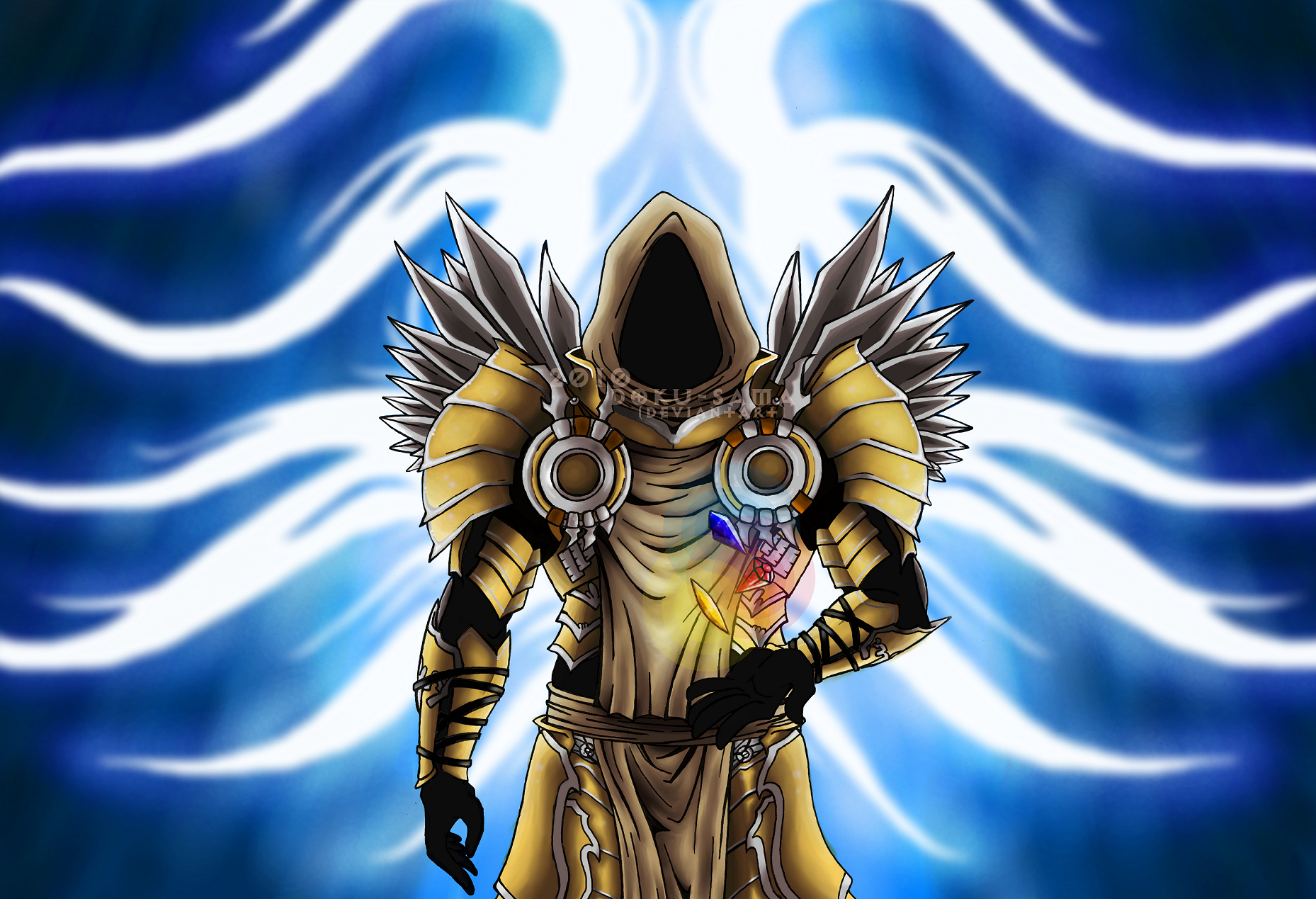 Tyrael and the Soulstones by Doku-Sama