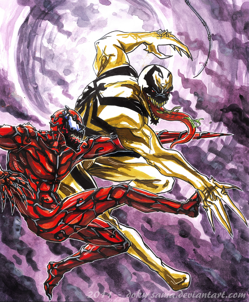 Anti-Venom VS Carnage by Doku-Sama on DeviantArt