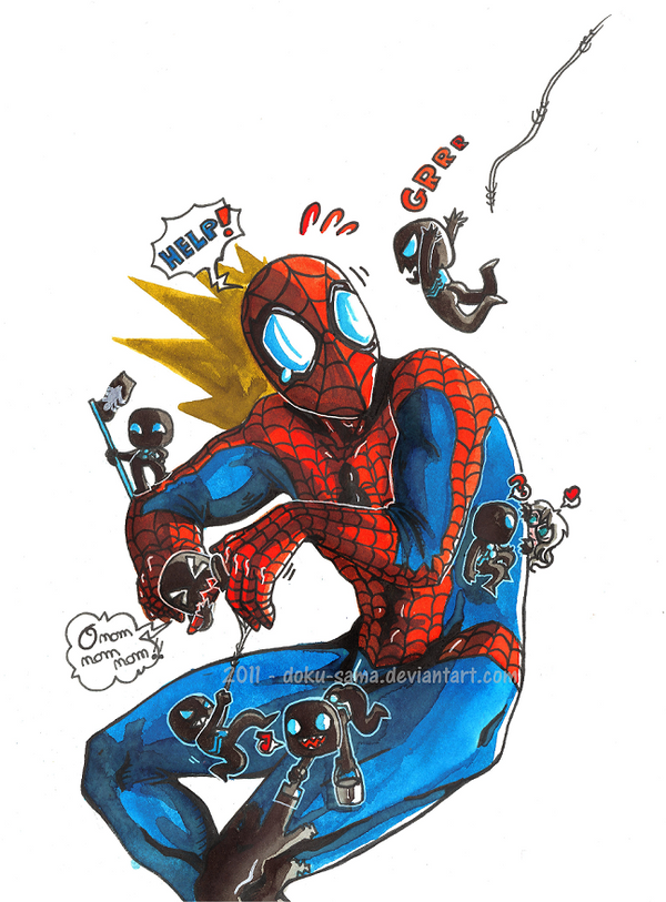 Spiderman VS Black Spidermen by Doku-Sama