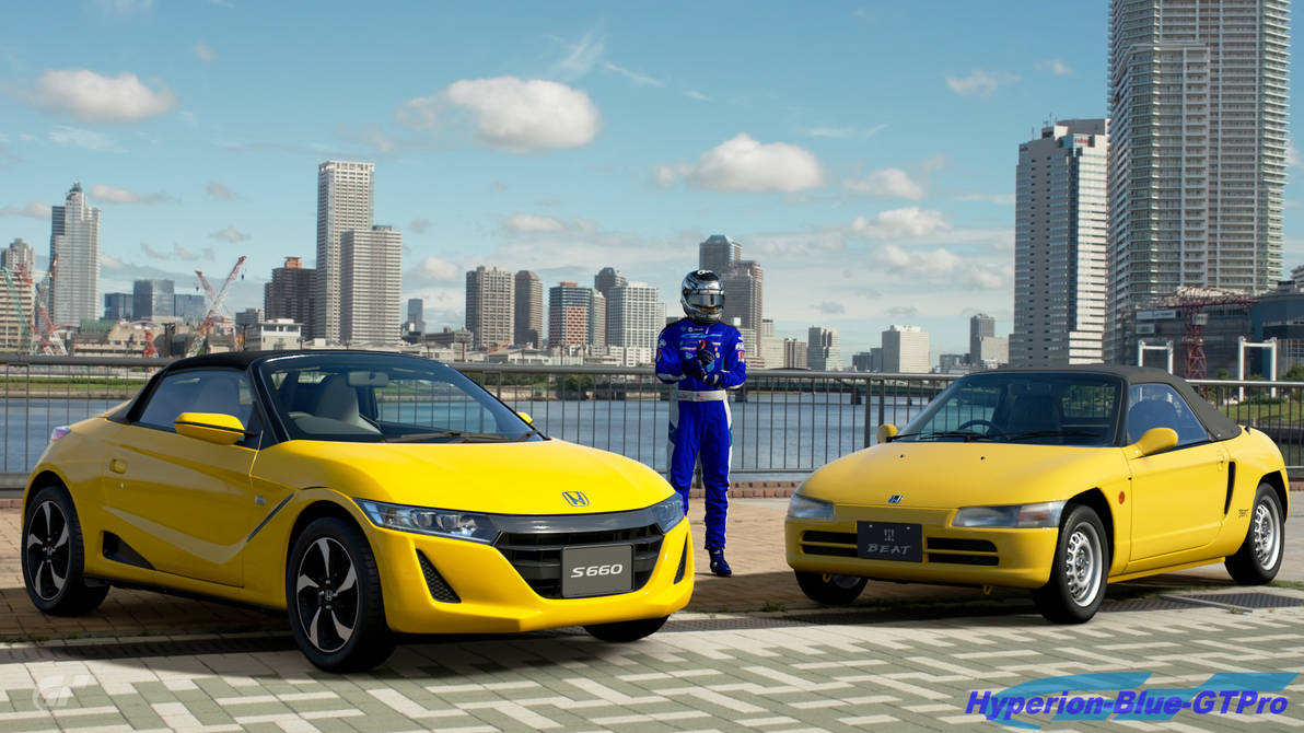 Two Honda Kei Cars Beat And S660 By Hyperion Blue Gtpro On Deviantart