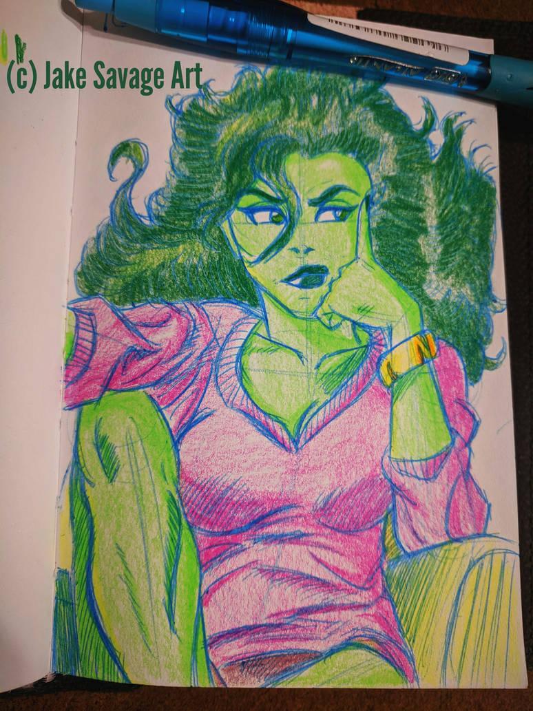 Sensational She-Hulk 1 by Fires-storm