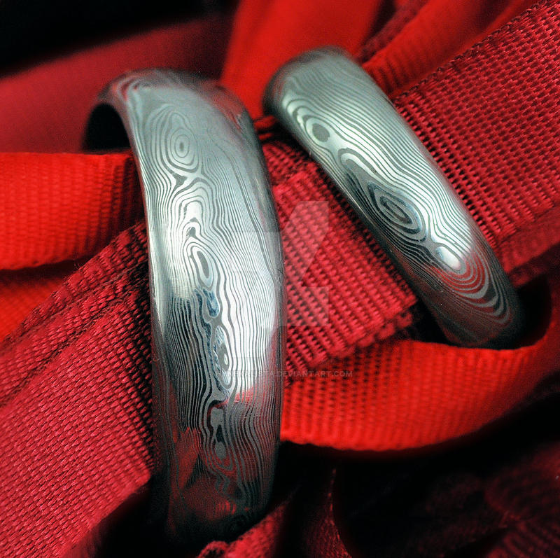 rings damasteel wedding on forged hynekalista by art deviantart