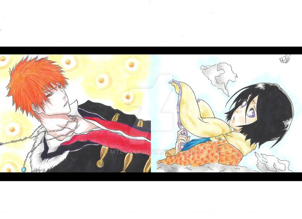 Ichigo and Rukia by MTEvans
