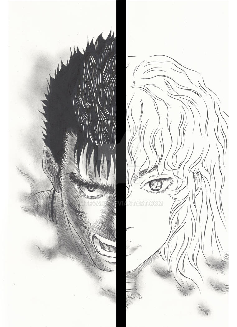 Gatsu and Griffith by MTEvans