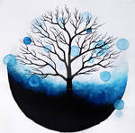 Blue tree by jointshadow