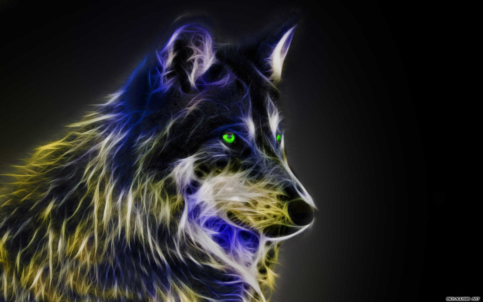 IMAGE | cool wolf backgrounds light