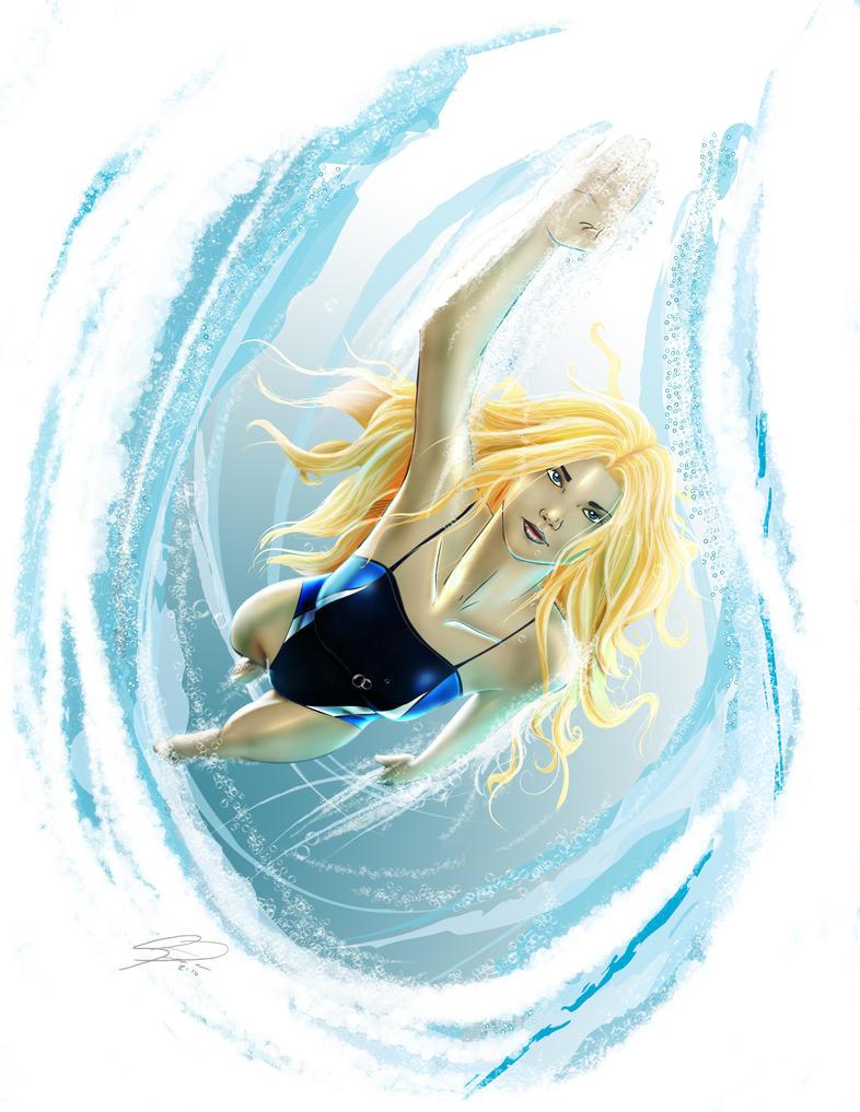 Missy Swims by steevinlove