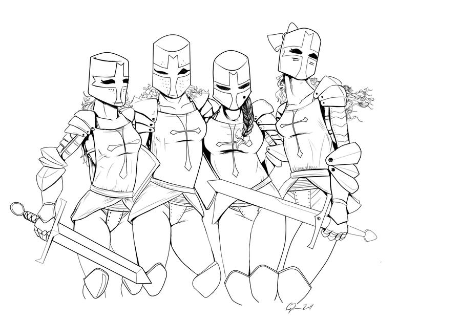 Castle crashers coloring pages 8837199 - datu-mo.info