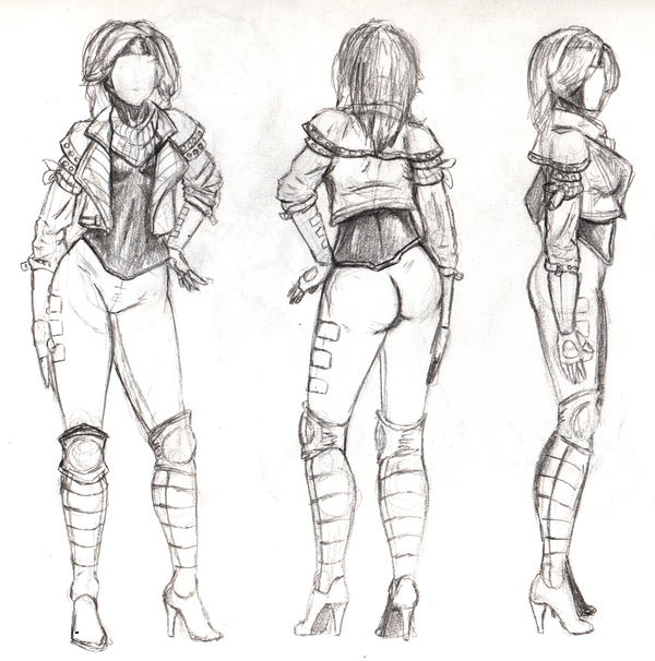 Female Gambit Design Sheet by steevinlove