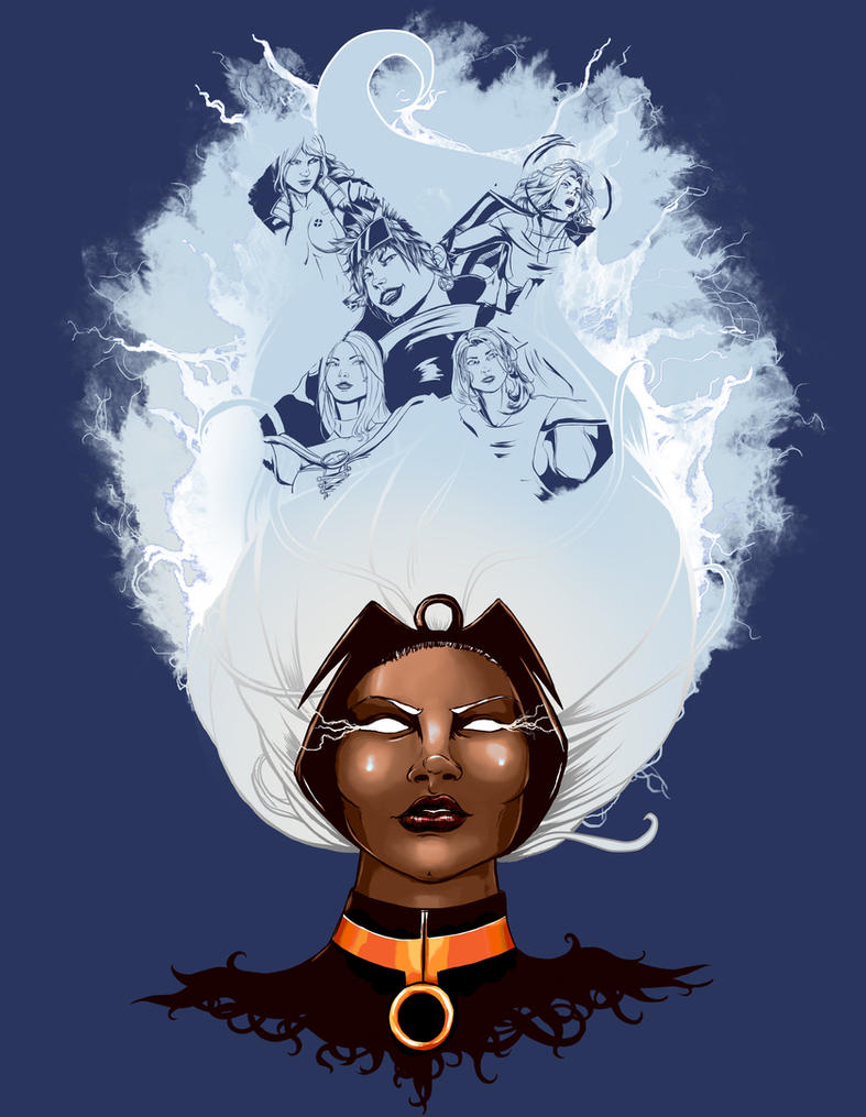 Storm and the X-Women by steevinlove