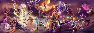 Disney vs Marvel - Princess Battle Royale by steevinlove