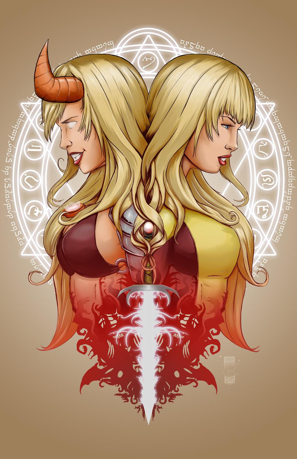 Magik Sorceress of Limbo by steevinlove