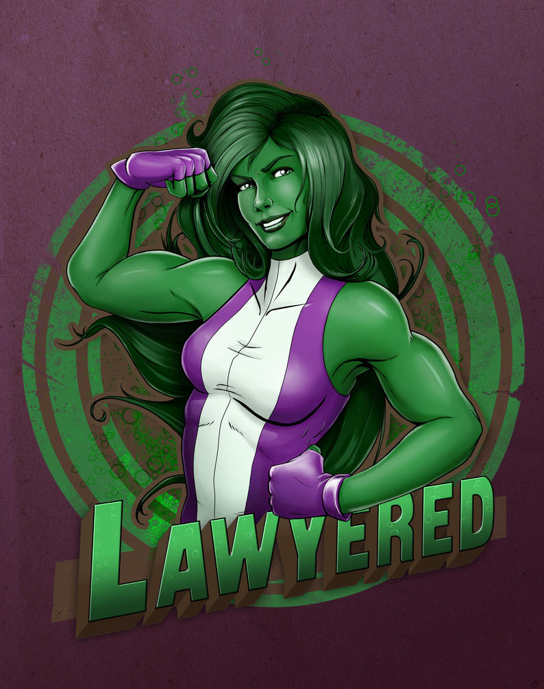 She-Hulk - Lawyered by steevinlove