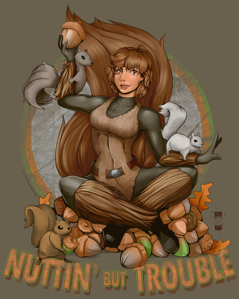 Squirrel Girl - Nuttin' but Trouble by steevinlove