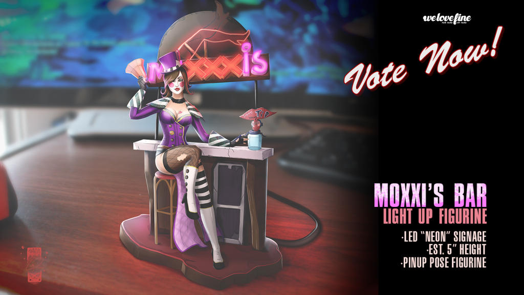 Mad Moxxi's Bar - Light Up Statue Concept by steevinlove
