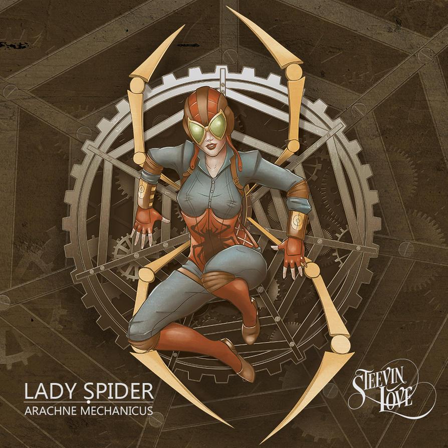 Lady Spider Mechanica by steevinlove