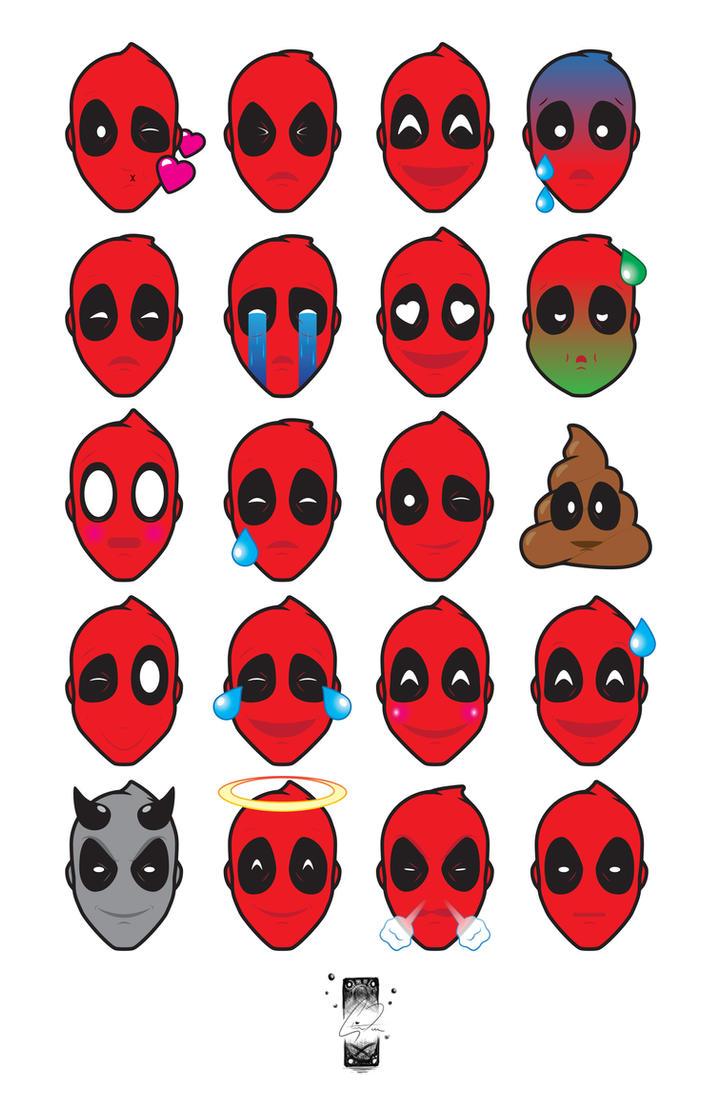Deadpool Emojis by steevinlove