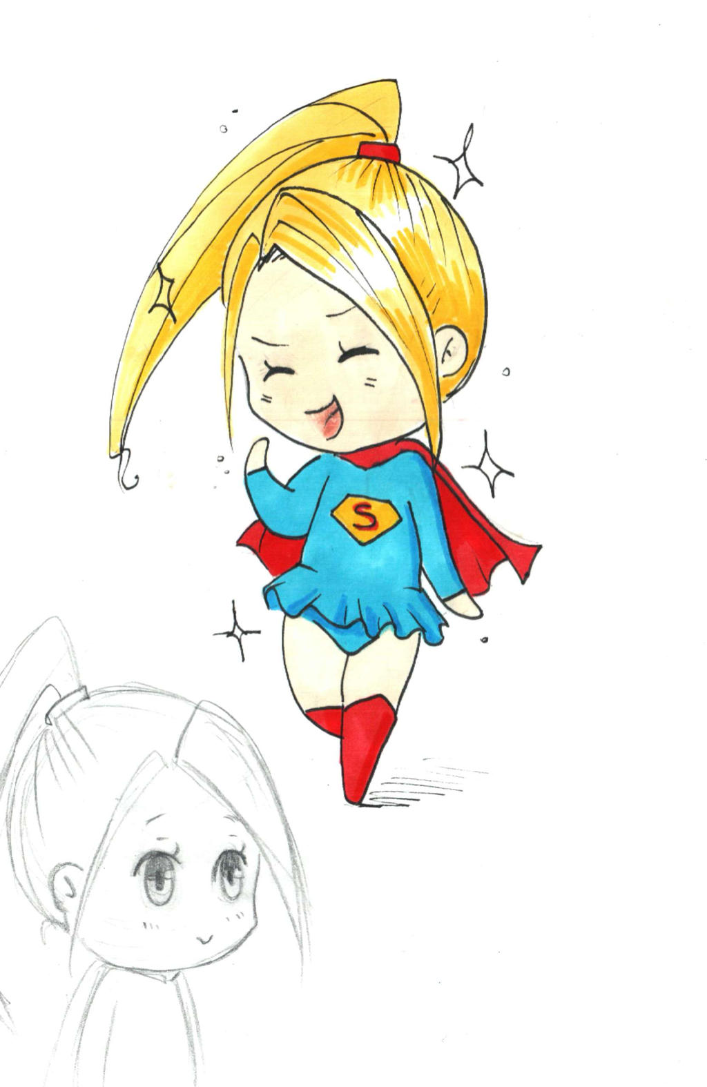 Chibi Supergirl by Brigumhild on DeviantArt
