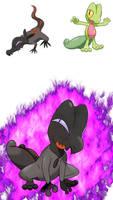 Pokemon Fusion Sceptile - Salazzle