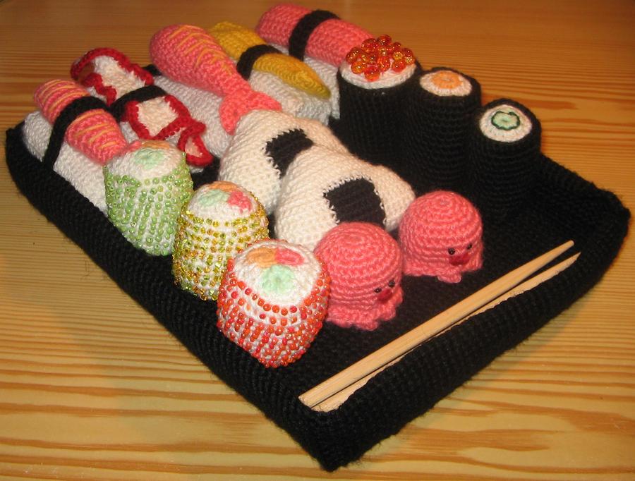 Amigurumi Boneka : Amigurumi sushi box by erysne on deviantart