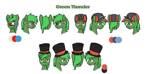 Green Thunder Hats/Accessories 1