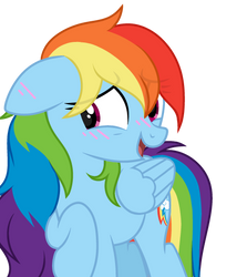 Dashie blushing