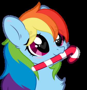 Fluffy Dash Candy Cane by blaa6