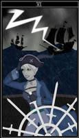 Sovereign Swords Tarot - Six of Swords (Bree) by Kaetana